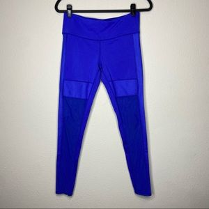 ALO Royal Blue Mesh Leggings Medium